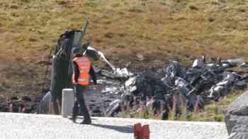 Helikopter Absturz: Aufräumarbeiten laufen