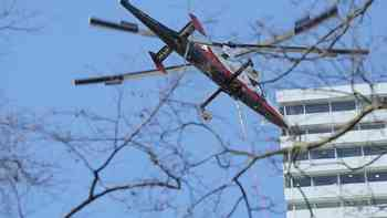 Helikopter hilft bei Baumfällung in Basel
