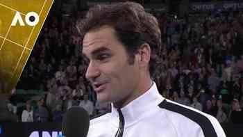 Roger Federer im Platzinterview nach der dritten Runde