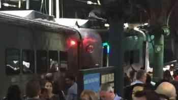 Zugunglück am Endbahnhof Hoboken in New Jersey