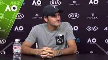 Pressekonferenz Australian Open: Roger Federer nach der dritten Runde